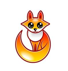 Cute cartoon fox isolated vector image