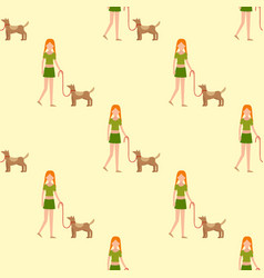 cute girl human character holding strongly vector image