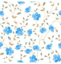 Field flowers wallpaper vector image vector image