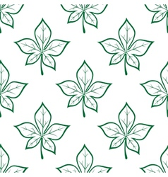 Green leaves square seamless pattern vector image vector image
