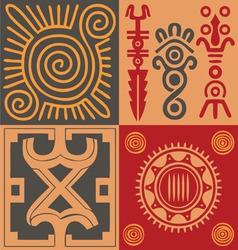 Indian ornament set vector image