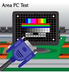 PC signal Test in Process Production Television of vector image vector image