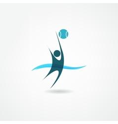 water polo icon vector image vector image