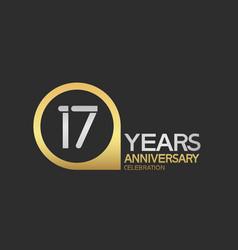 17 years anniversary celebration simple design vector