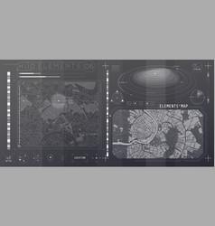 A set hud maps elements for futuristic vector