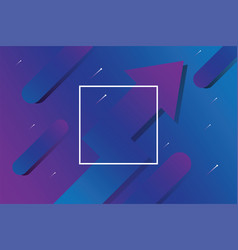 abstract business arrow with blue and purple color vector image