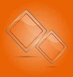 Abstract glass panel with copy space vector image