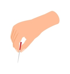 Acupuncture needle icon isometric 3d style vector image
