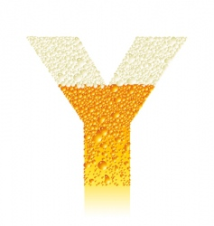 alphabet beer y vector image
