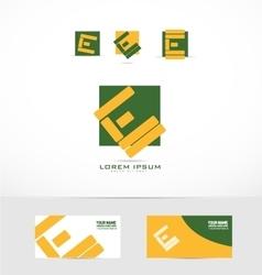 Alphabet letter e logo icon vector image