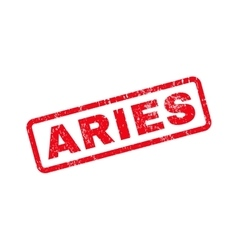 Aries Text Rubber Stamp vector