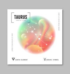 Astrology taurus zodiac constellation vector
