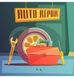 Auto Repair vector image