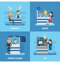 Bank Service Flat Concept vector