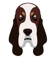 Basset hound avatar vector