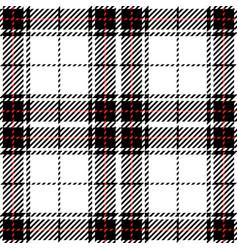 black and white tartan plaid seamless pattern vector image