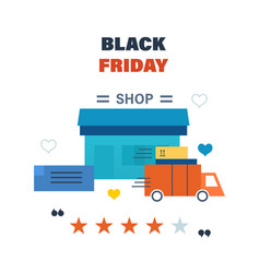 black friday formulation delivery of the goods vector image