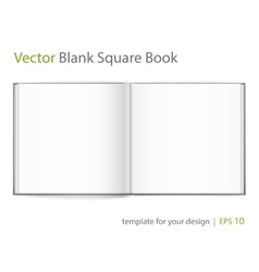Blank of open square magazine on white background vector image