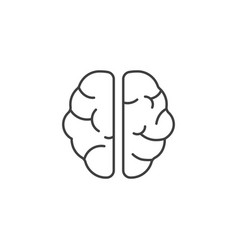 brain line icons vector image