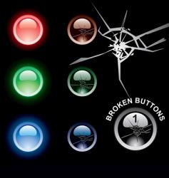 Broken buttons vector