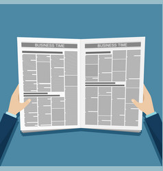 Business news newspaper in hands vector