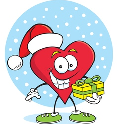 Cartoon Heart with a Gift vector image