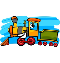 Cartoon locomotive or train character vector