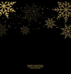 christmas background with falling gold snowflakes vector image