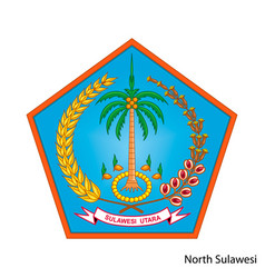 Coat arms north sulawesi is a indonesian vector