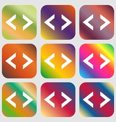 Code sign icon Programmer symbol Nine buttons vector