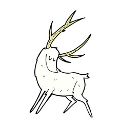 Comic cartoon white stag vector