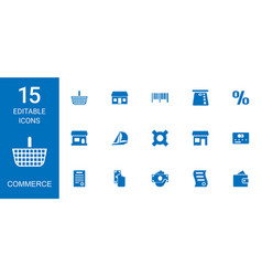 commerce icons vector image