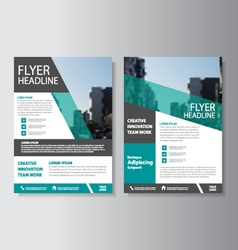 Corporate flyer Leaflet Brochure template set vector