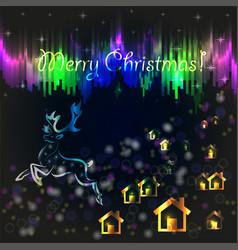 cristmas card vector image