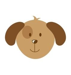 Cute dog head isolated icon design vector