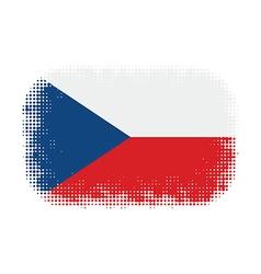Czech flag halftone vector image