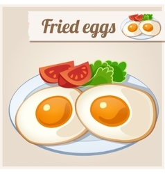 Detailed Icon Fried eggs for breakfast vector