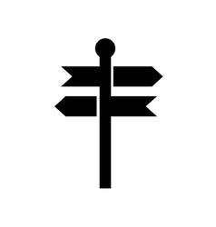 directional arrows signals pole icon icon simple vector image
