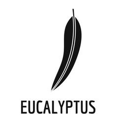 Eucalyptus leaf icon simple black style vector