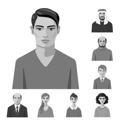 Face and person sign set vector