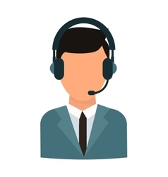 Face headphone vector image
