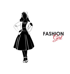 fashionable girl fashion silhouette of a girl vector image