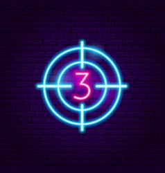 film countdown neon sign vector image