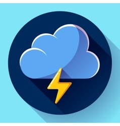 flat color weather meteorology icon with vector image