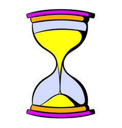 Hourglass icon cartoon vector