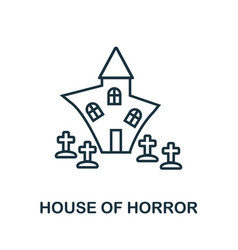 House of horror outline icon thin line style from vector