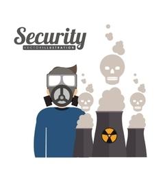 Industrial security design vector