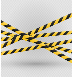 Isolated lines insulation realistic warning vector