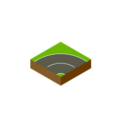 isolated way isometric bitumen element can vector image