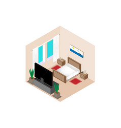 isometric bedroom vector image